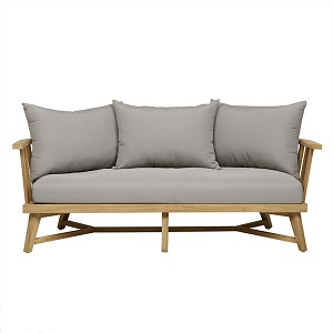Sonoma Slat 3 Seater Sofa - Dove Grey