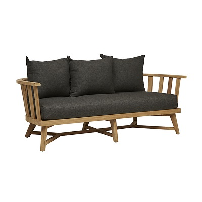 Sonoma Slat 3 Seater Sofa - Ink