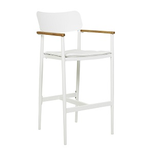 Lagoon Barstool - White & Cloud