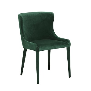Claudia Dining Chair - Dark Green Velvet