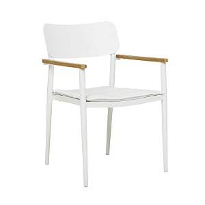 Lagoon Dining Arm Chair - White & Cloud