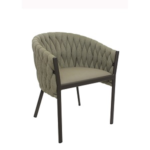 Livorno Dining Arm Chair - Taupe & Anthracite