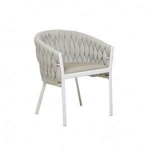 Livorno Dining Arm Chair - Pale Grey
