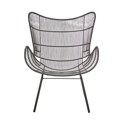 Mauritius Wing Occasional Chair - Espresso