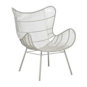 Mauritius Wing Dining Arm Chair - Light Grey