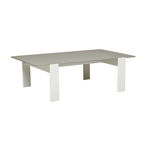 Lagoon Coffee Table - Grey Sandblast & White