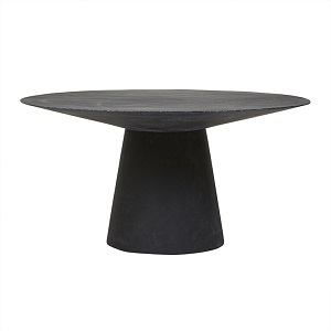Livorno Round Dining Table 120D - Black Speckle