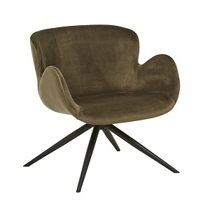 Astrid Arm Chair - Brown Velvet