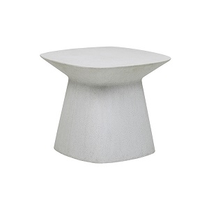 Livorno Curve Side Table - White Speckle