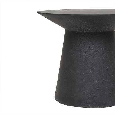 Livorno Round Side Table - Black Speckle