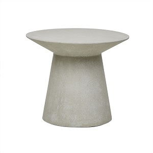 Livorno Round Side Table - Grey Speckle