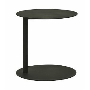 Aperto Ali Round Side Table - Black 40
