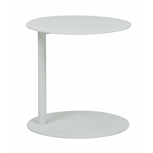 Aperto Ali Round Side Table - White 40