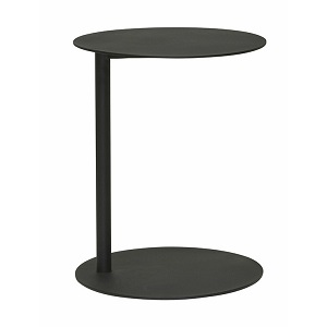 Aperto Ali Round Side Table - Black 50