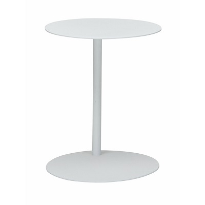 Aperto Ali Round Side Table - White 50