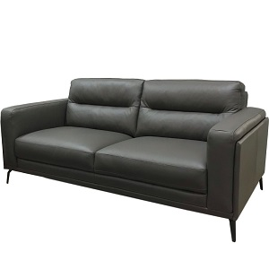 F014 3 Seater Leather Sofa by Milano and Design
