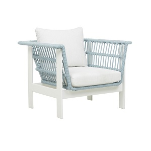 Lagoon Sofa Chair - Spa & White