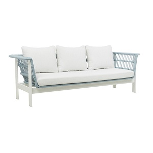 Lagoon 3 Seater Sofa- Spa & White