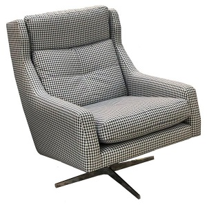 Zac Swivel Chair - Silver Base by Molmic