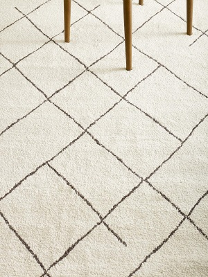 Nordic Tangier Rug - Cream and Brown