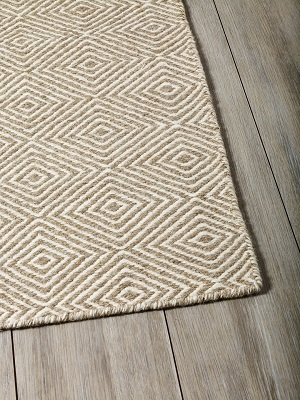 Braid Diamond Rug - Natural and Beige