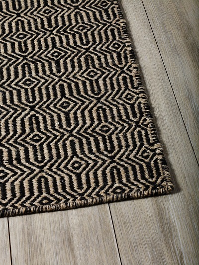 Braid Fusion Rug - Beige and Black