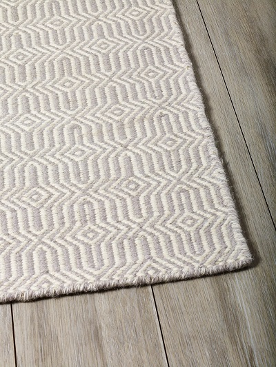 Braid Fusion Rug - Silver and Ivory