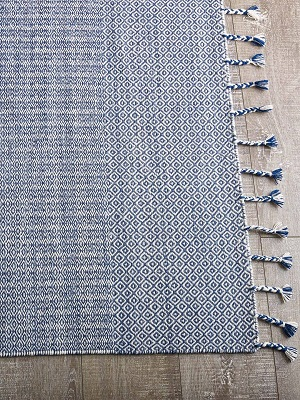 Braid Kilim Rug - Blue and Denim