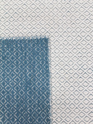 Braid Pastille Rug - Ivory and Blue