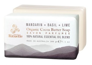Equilibrium Organic Cocoa Butter Soap - Mandarin, Basil & Lime