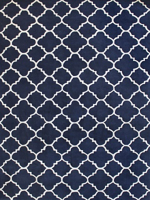 Provence Rug - French Navy