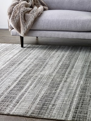 Santa Monica Rug - Grey and Silver