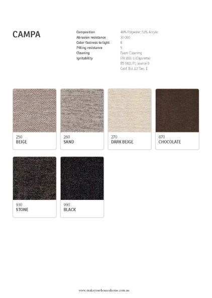 IMG Campa Fabric Colour Options