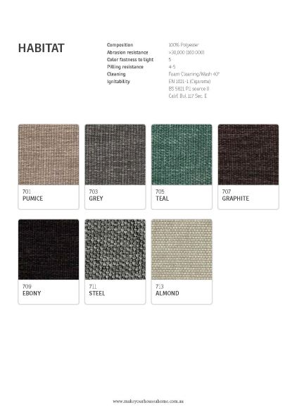 IMG Habitat fabric colour options