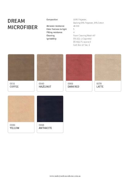 IMG Dream Fabric Colour Options