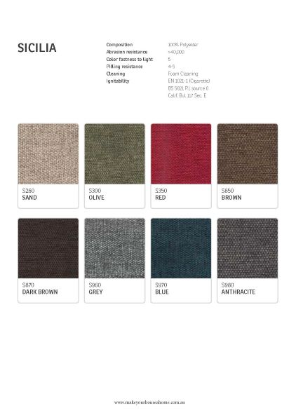 IMG Sicilia Fabric Colour Options