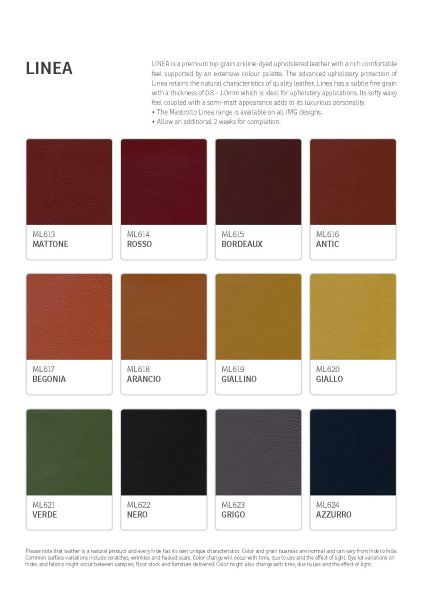 IMG Linea Leather Colour Options 2
