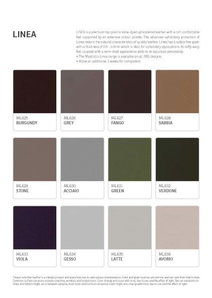 IMG Linea Leather Colour Options 3