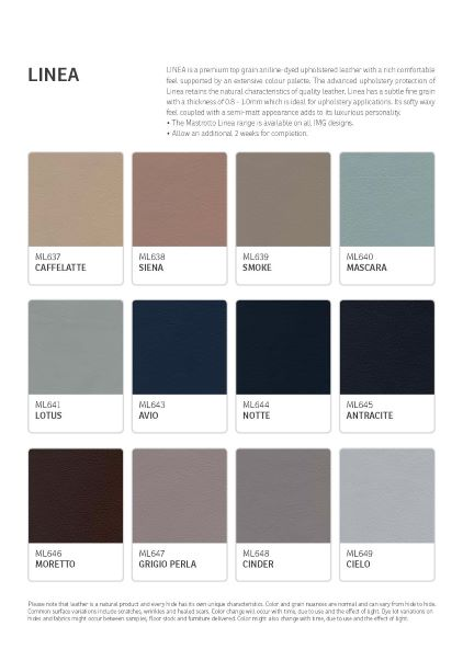 IMG Linea Leather Colour Options 4