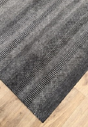 Hamilton Rug - Black Silver Bayliss