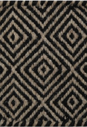 Herman Rug - Diamond Taupe Black