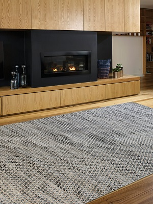 Braid Hive Rug - Denim