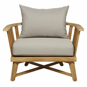Sonoma Slat Occasional Chair - Dove Grey