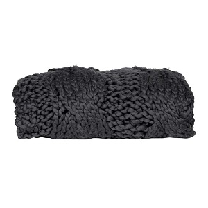 Iggy Cable Throw - Charcoal