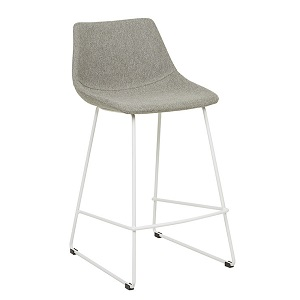 Arnold Barstool - Grey Speckle & White