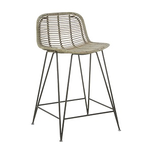Plantation Bells Barstool - Greywash