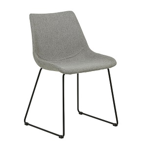 Arnold Dining Chair - Grey Speckle & Black
