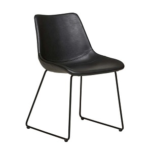 Arnold Dining Chair - Vintage Matt Black PU