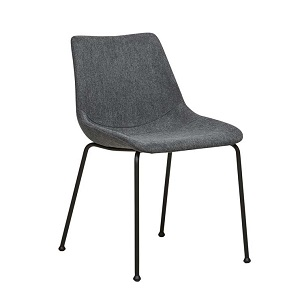 Arnold Straight Leg Dining Chair - Charcoal Metal