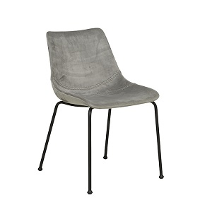 Arnold Straight Leg Dining Chair - Mineral Grey
